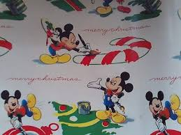 mickey mouse christmas wrapping paper vintage disney mickey mouse christmas wrapping paper partial roll