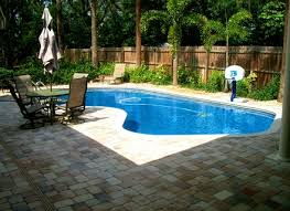 photo of backyard with pool landscaping ideas garden design garden