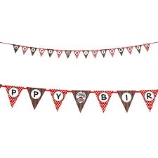 Flag Banner Clip Art Sock Monkey Red Ribbon Flag Banner Birthdayexpress Com