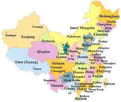 map of china and cities china map