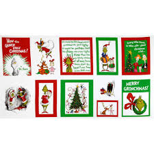 kaufman how the grinch stole christmas merry grinchmas quilt panel