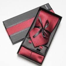 tie box gift tie cufflinks cloth set of 3 men s gift set box tie gift