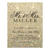 wedding invitations glitter glitter wedding invitations announcements zazzle