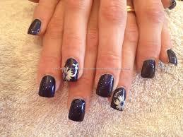 eye candy nails u0026 training full set of acrylic with dark blue