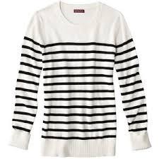 merona sweater merona s sleeve crew neck sweater stripes polyvore
