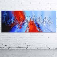 Tableau Abstrait Rouge Et Gris by Peinture