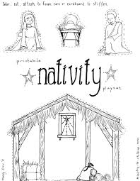 nativity color page online for kid 8479