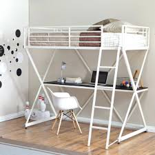 loft beds white metal loft bed beds with desk white metal loft