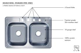 Double Bowl Stainless Steel Kitchen Sink 33