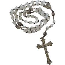 creed rosary vintage sterling silver bell shaped creed rosary