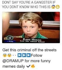 Funny Gangster Memes - 25 best memes about gangster gangster memes