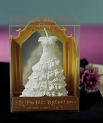 a perfect reflection wedding dress mini candle pack of 6