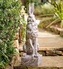 proud hare garden statue wind weather