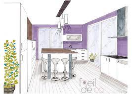 dessiner en perspective une cuisine l oeil de co cuisine contemporaine perspective l oeil de co