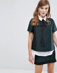 Black Blouse With White Collar Sister Jane Shop Sister Jane For Dresses Tops Shirts And