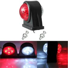 led lights for trucks and trailers 12v e8 e marked truck trailer lorry caravan side led light l red