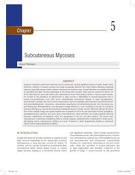 mycose du si e b chapter 05 subcutaneous mycoses pdf available