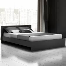Simple Queen Size Bed Designs Luxury Upholstered Headboard Platform Bed With Double Mattresses