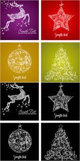christmas card set vector free download scrapbook digital
