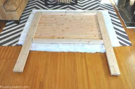 how to build a padded headboard diy upholstered queen headboard