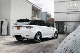 land rover white black rims ag luxury wheels range rover sport forged wheels