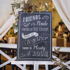 wedding seating signs wedding ceremony seating sign wedding directional signs