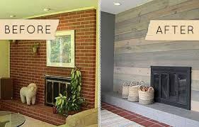 Fireplace Brick Stain by Before U0026 After A Kitschy Midcentury Fireplace Goes From Shabby To