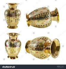 Indian Vases Collection Indian Vases Isolated On White Stock Photo 211136563