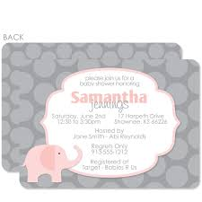pink and grey baby shower invitations pink and grey baby shower