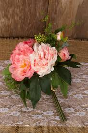 Rose Bouquet Fuchsia 9in Peony Bouquet Pink And Cream 11in I Do 09 04 15 Pinterest