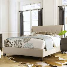 nolan fabric upholstered bed oyster crisp tailored and