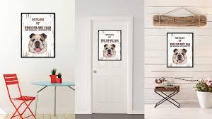 english home decor beware of english bulldog home decor gift ideas wall decoration
