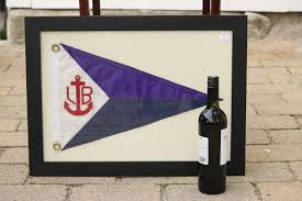 Custom Burgee Flags Framed Nylon Yacht Burgee Lannan Gallery