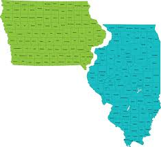 Map Of Il Map Of Illinois And Iowa My Blog
