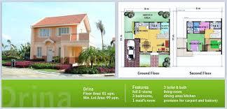 Camella Homes Drina Floor Plan Camella Homes Drina Model House Home Box Ideas
