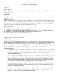 Sample Resume For A Fresh Graduate by Examples Of Career Objective Agreeable Sample Career Objective