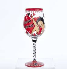 champagne glass cartoon betty boop still wine glass fiftiesstore com