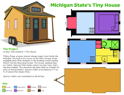 Tiny House Lab Sparty U0027s Cabin Unveiled On Earth Day Msutoday Michigan State