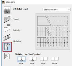 symbol settings stairmaker help center archicad bimx bim