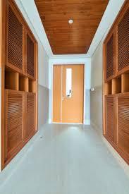 wooden flush in patient room door