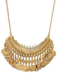 chunky gold necklace fashion images Shining diva fashion jewellery party wear chunky gold necklace for jpg
