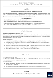 Resume 10 Key by Resume Makeover For Elvis Presley The King Of Rock U0027n U0027 Roll