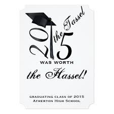 black and white tassel worth the hassle graduation 5 x 7