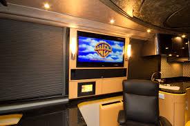 salon home cinema 2002 prevost conversion remodel tradewinds coach u0026 marine