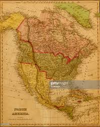 Map Of Nirth America by Map Of North America 1844 Pictures Getty Images