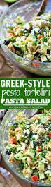 greek style pesto tortellini pasta salad