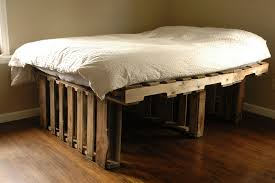 Bed Frame With Wood Legs Shabby Natural Brown Wooden Bed Frame With Bars Legs Plus White
