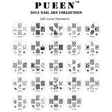 pueen love elements nail art plate set harlow u0026 co