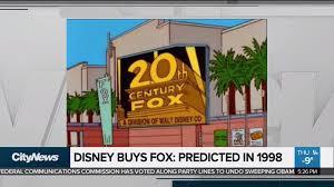 bureau de change disney the simpsons predicted disney buying 21st century fox back in 1998