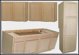 Menards Prefinished Cabinets Unfinished Oak Pantry Cabinet 24 Wide Pantry Home Design Ideas